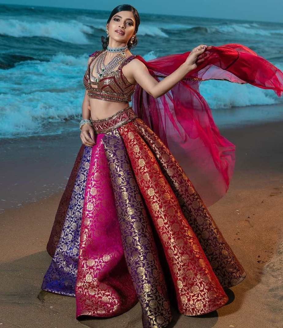 sanchita shetty red lehenga look for class apart studio149 shoot