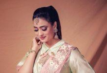 shweta tiwari in gazal gupta dhoti drape saree