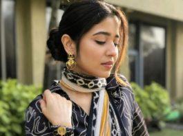 swetha tripathi in printed saree