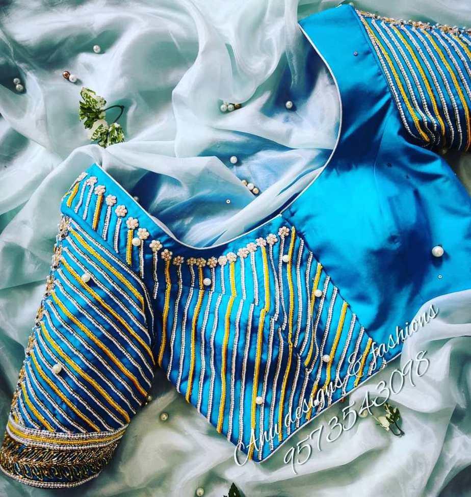 trendy designer blouses for kanjeevaram silk sarees