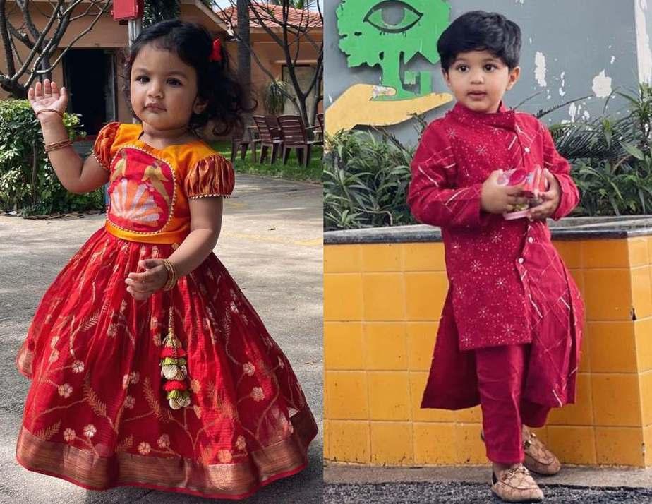 viranica manchu and kids celebrate bhogi 2021