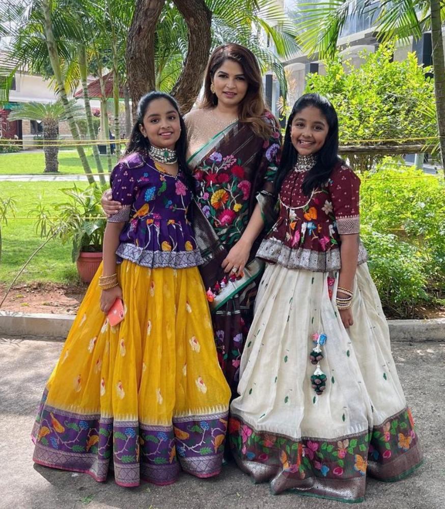 viranica manchu daughters lehengas sankranthi photos