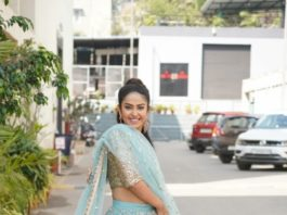 Avika gor in aqua lehenga for dance rehearsal 2