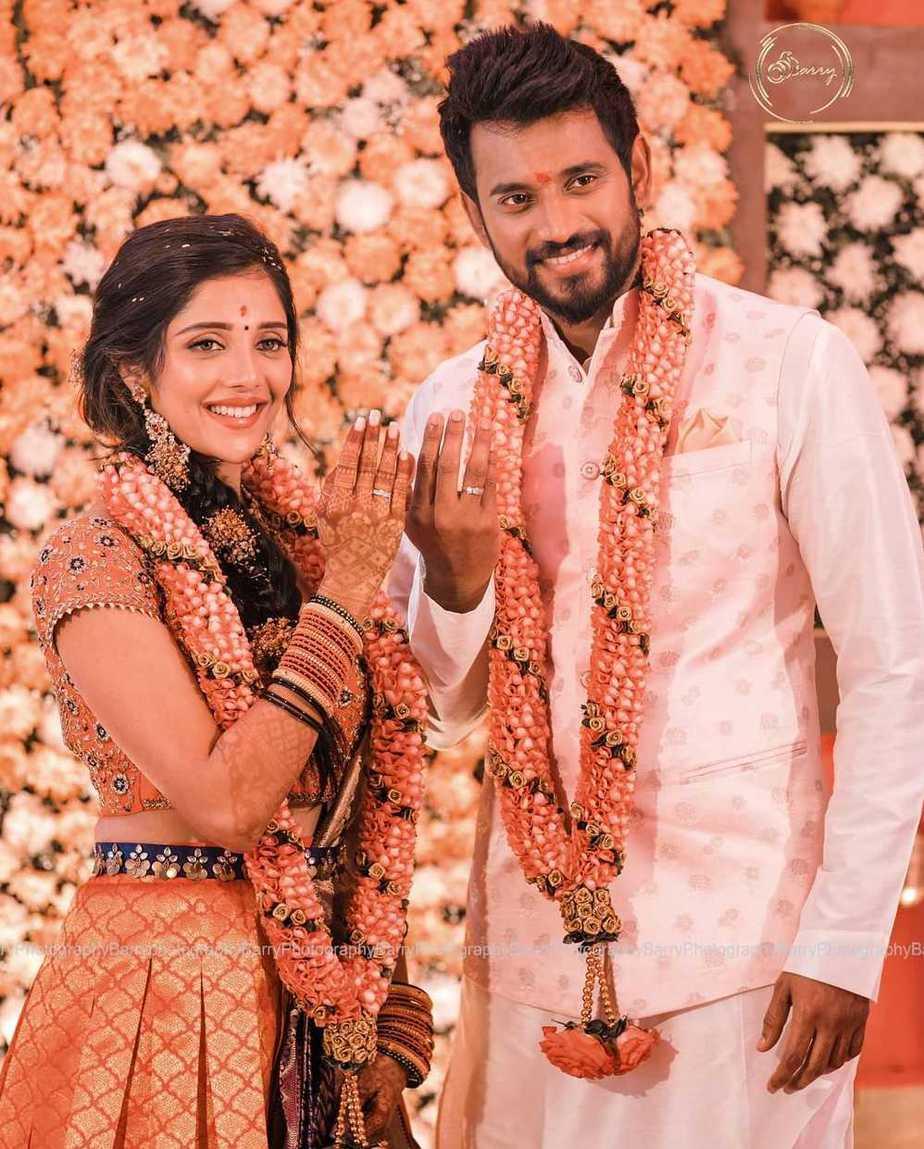 Darling Krishna and Milana Nagaraj at engagement ceremony4