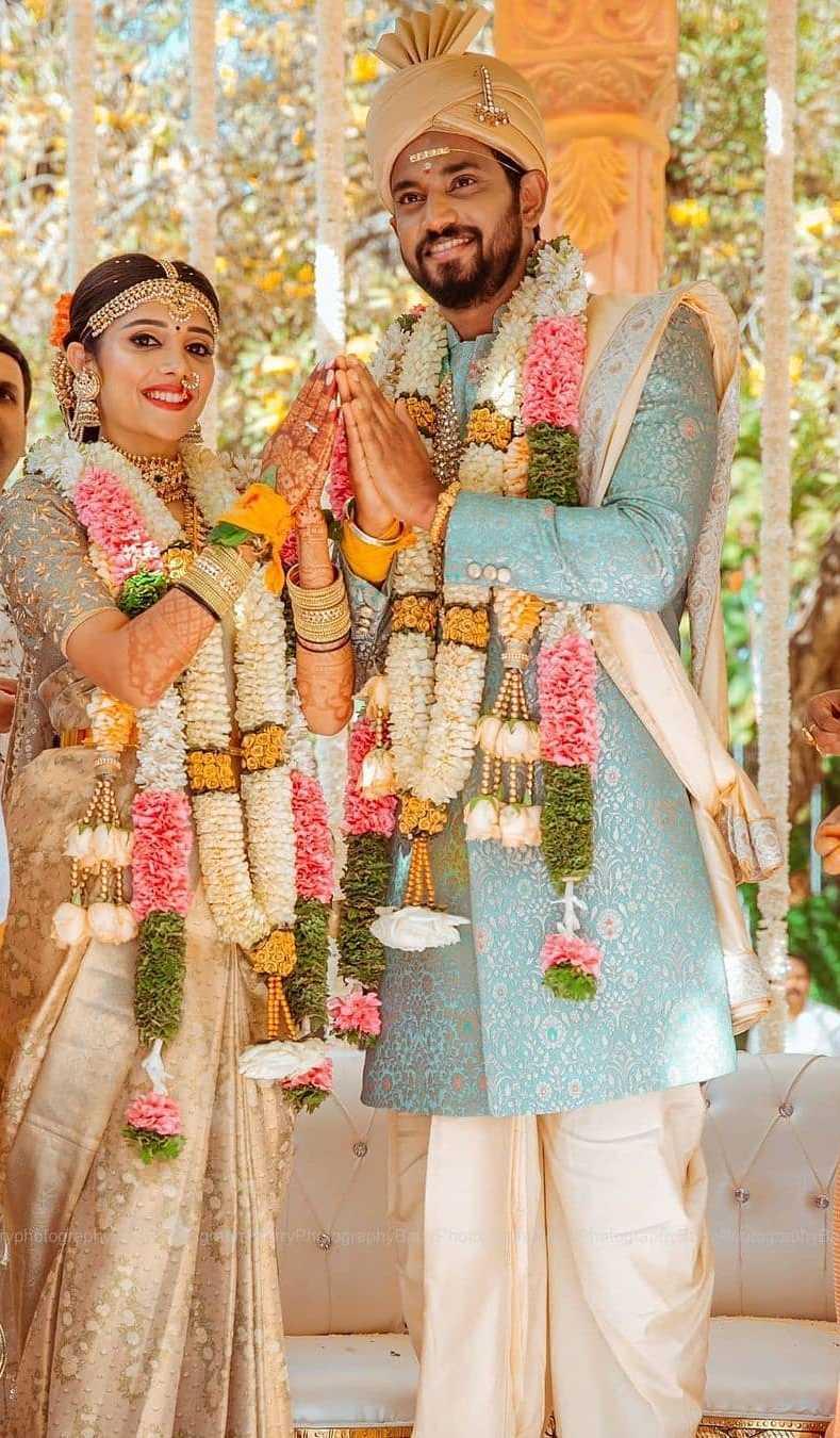 Darling Krishna and Milana Nagaraj-wedding pictures