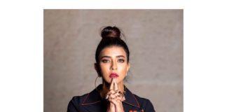 Lakshmi Manchu in black jumpsuit by Shahin Mannan for pitha kathalu promotions1