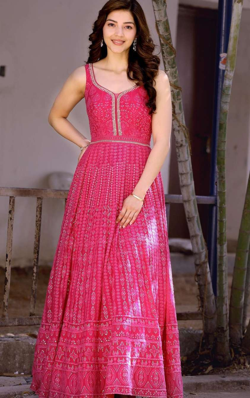 Mehreen Pirzadaa in a hot pink outfit by issa studio