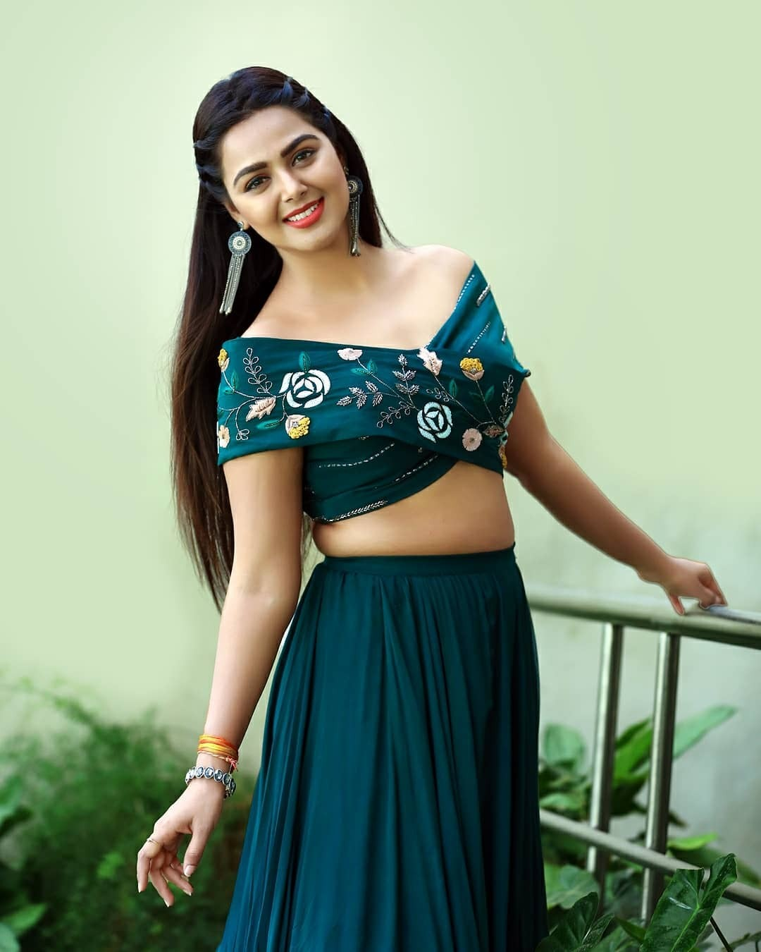 Monal Gajjar in teal green outfit by Atelier for Dance plus1