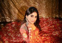Nabha Natesh in orange anarkali by Mrunalini Rao3