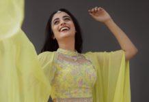 Namitha Pramod in lemon yellow outfit by Jeune Maree2