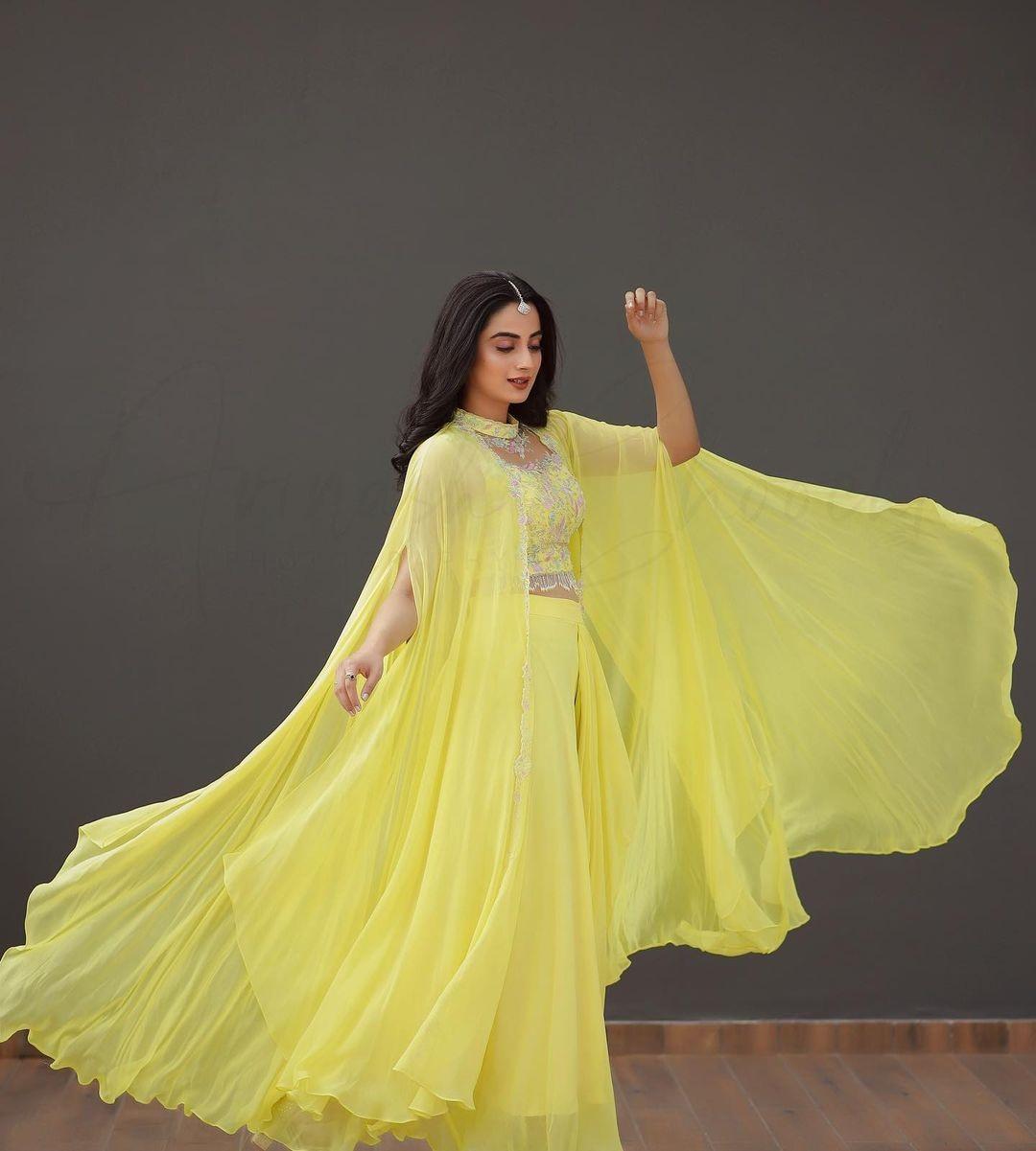 Namitha Pramod in lemon yellow outfit by Jeune Maree3