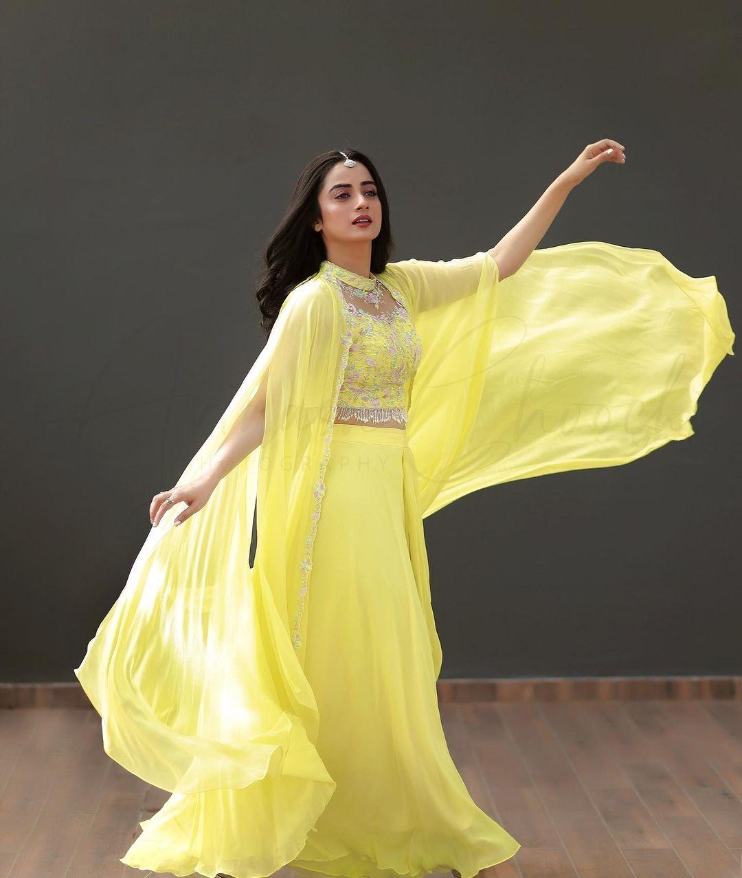 Namitha Pramod in lemon yellow outfit by Jeune Maree4