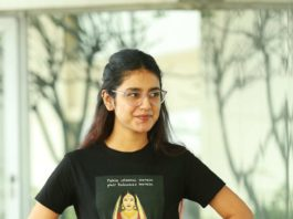 Priya Prakash Varrier in black tee and jeans for check movie interview4