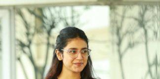 Priya Prakash Varrier in black tee and jeans for check movie interview4
