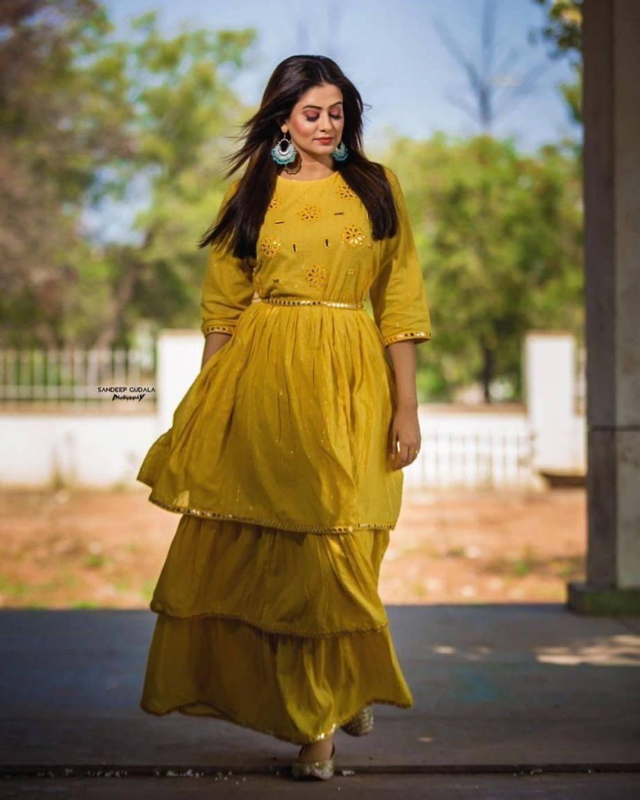 Priyamani Raj in yellow flared dress by Kamodinee for Dhee 13-3