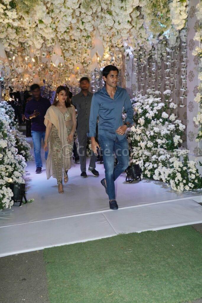 Samantha Akkineni and Chaitanya in gold and blue at Director Sukumar's family bash6