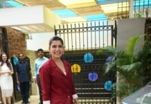 Samantha Akkineni in burgundy pant-suit for ekam early lerning 1st anniversary celebs-1.3
