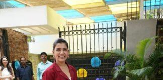 Samantha Akkineni in burgundy pant-suit for ekam early lerning 1st anniversary celebs-1.3
