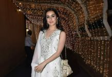 Shraddha Kapoor in ivory lehenga set by Anita Dongre fro cousin's wedding6