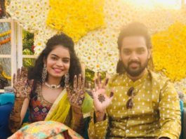 Sumanth Ashwin and Deepika mehndi in ashwini reddy