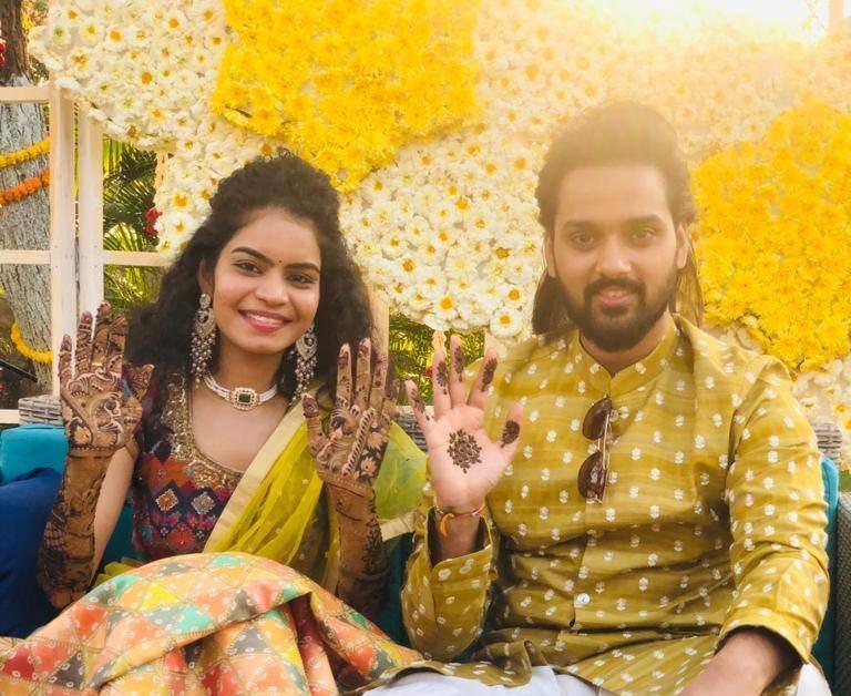 Sumanth Ashwin and Deepika mehndi in ashwini reddy3