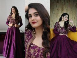 Surabhi Puranik in purple lehenga by Preesha-featured