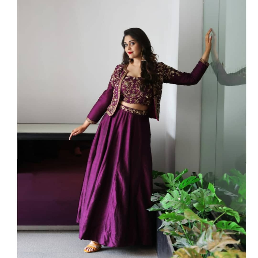 Surabhi Puranik in purple lehenga by Preesha1