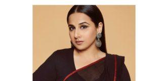 Vidya balan in a black nandidimps saree 1