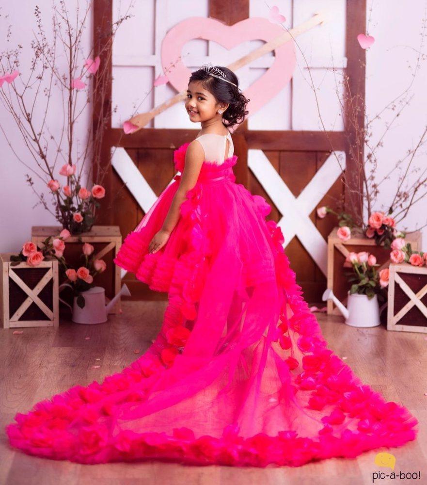 allu arha in pink princess dress on valentine's day