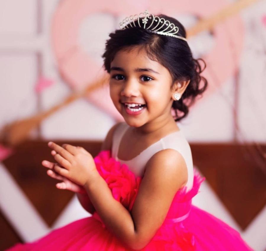 allu arha in princess dress for valentine's day