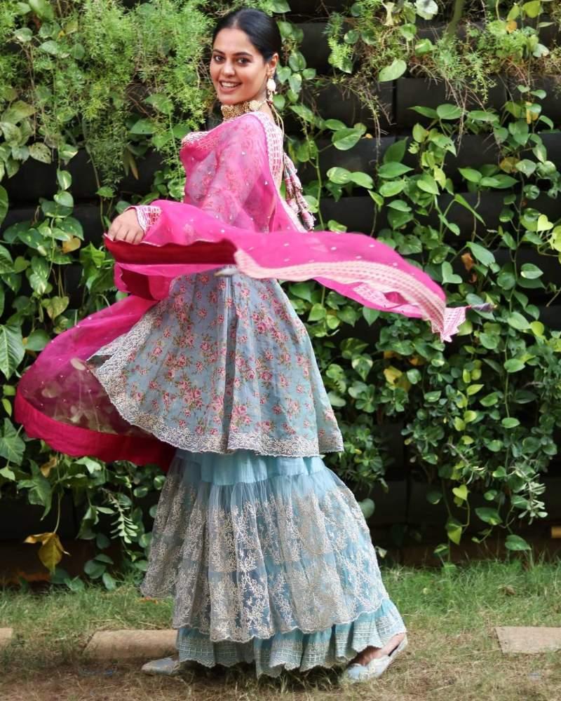 bindu madhavi in a breezy lehenga from naaz