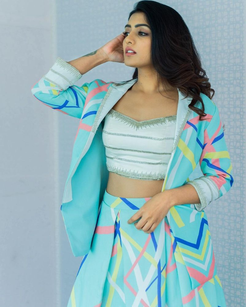 eesha rebba in printed blazer for valentines day photo