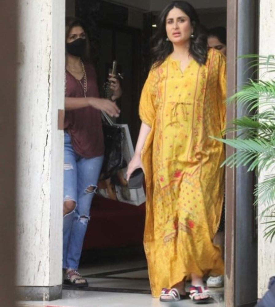 kareena kapoor khan in yellow kaftan