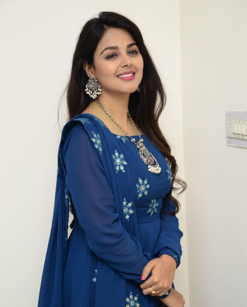 monal gajjar in a blue anarkali set for movie first look