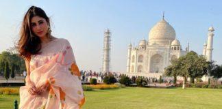 mouni roy in picchika by urvashi sethi saree