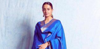 surveen chawla in raw mango suit