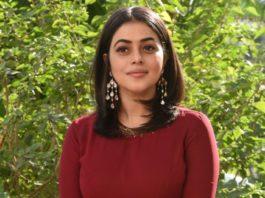 shamna kasim in brown dress at power play trailer launch