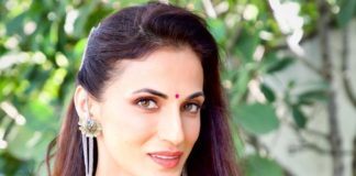 shilpa reddy in a black saree for sustainable living with shilpa