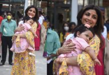 shilpa shetty with her daughter (1)