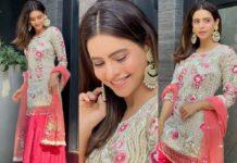Aamna Sharif in ivory kurta set by Navneet Sidhu-featured