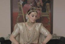 Hansika Motwani in an ivory Abhinav Mishra lehenga for brother's wedding-3
