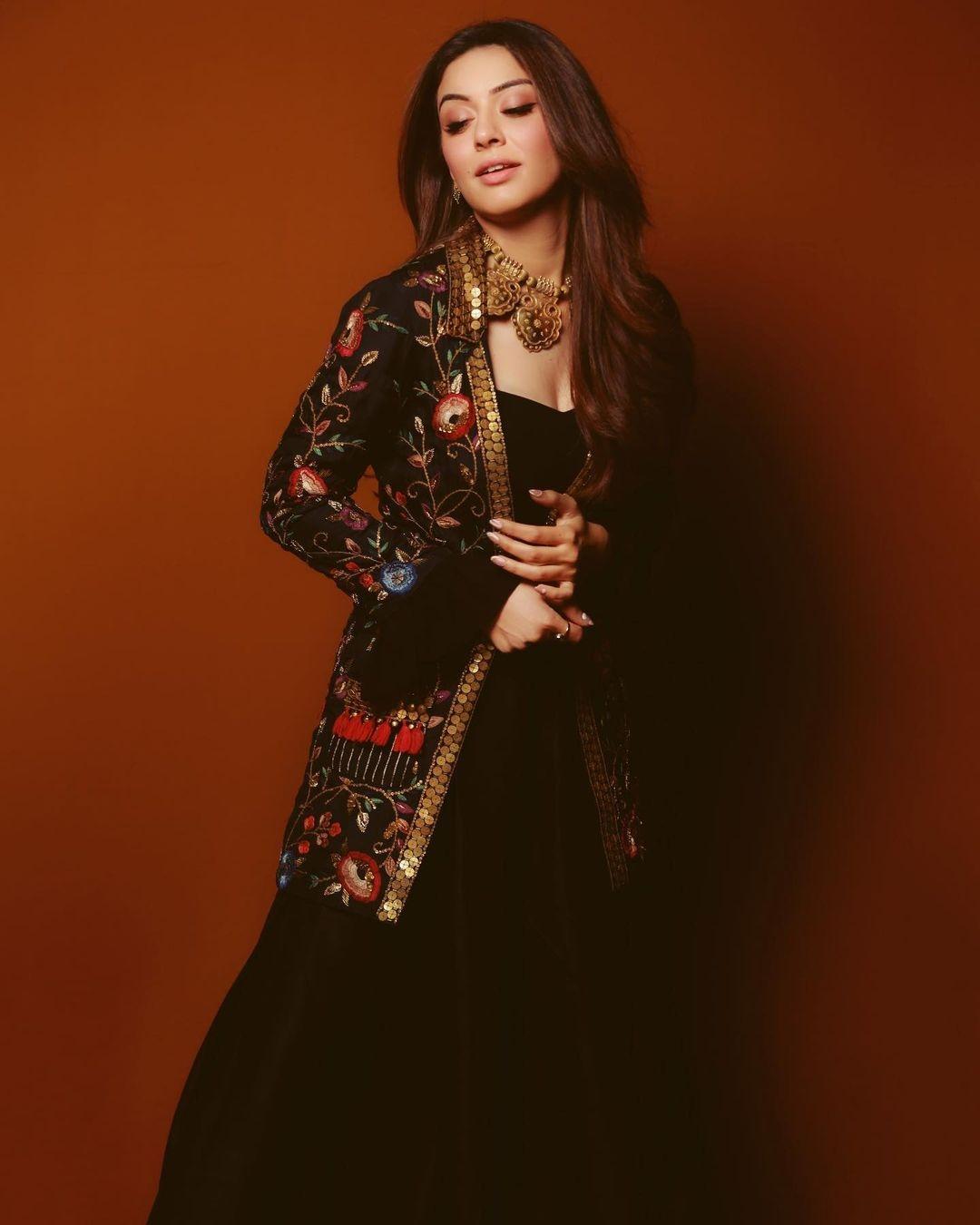 Hansika Motwani in black outfit from Samatvam by Anjali Bhaskar-1