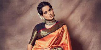 Kangana Ranaut in a madhurya creations pattu saree for thalaivi trailer launch1.3