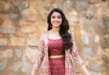 Krithi Shetty in brick red kalamkari ethnic outfit by Label anushree