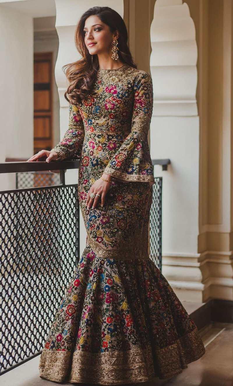Mehreen Pirzadda in beige sahil kochhar gown post engagement photoshsoot-3