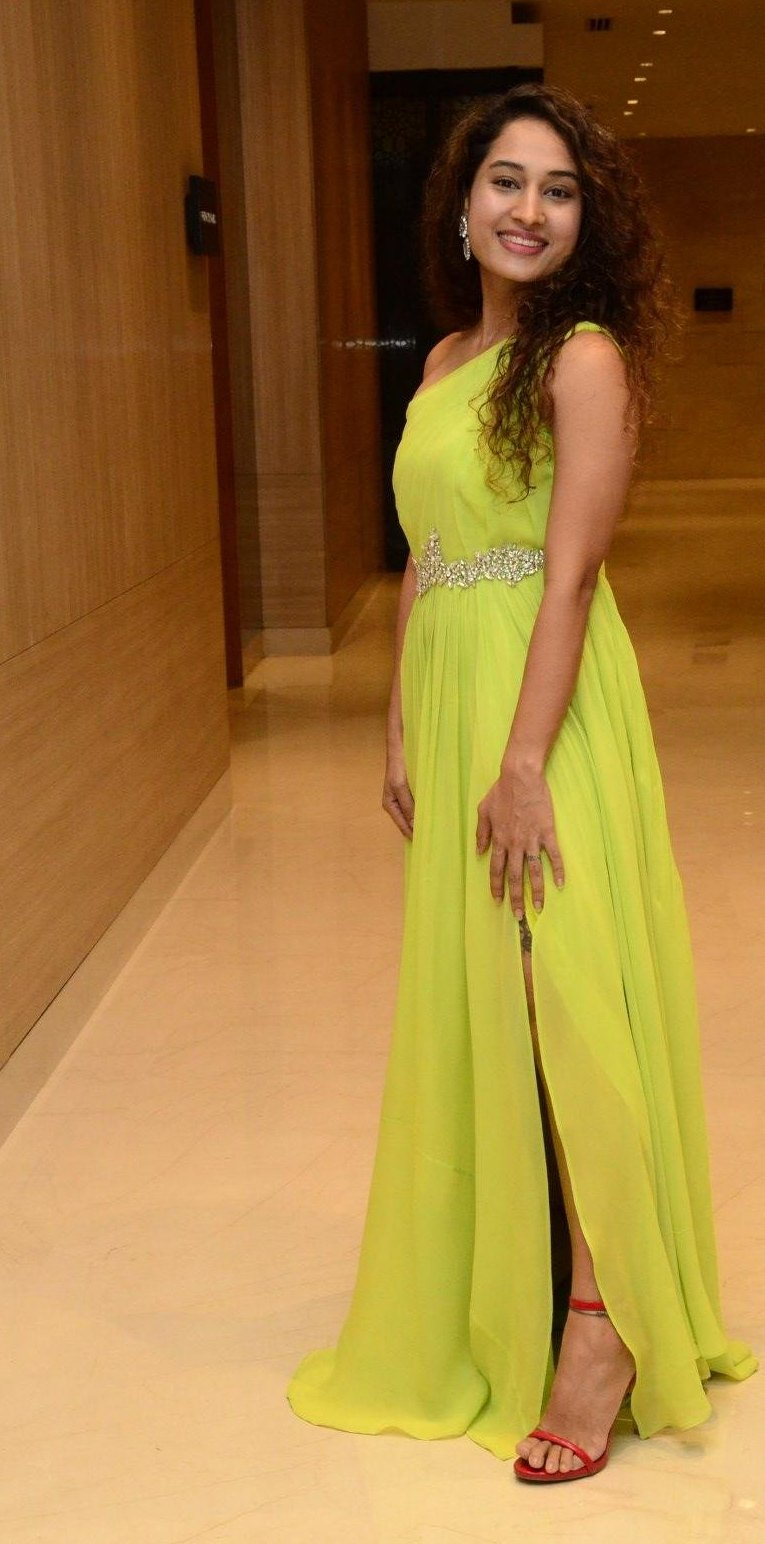 Pooja Ramachandran in a neon dress for powerplay pre-release event-1