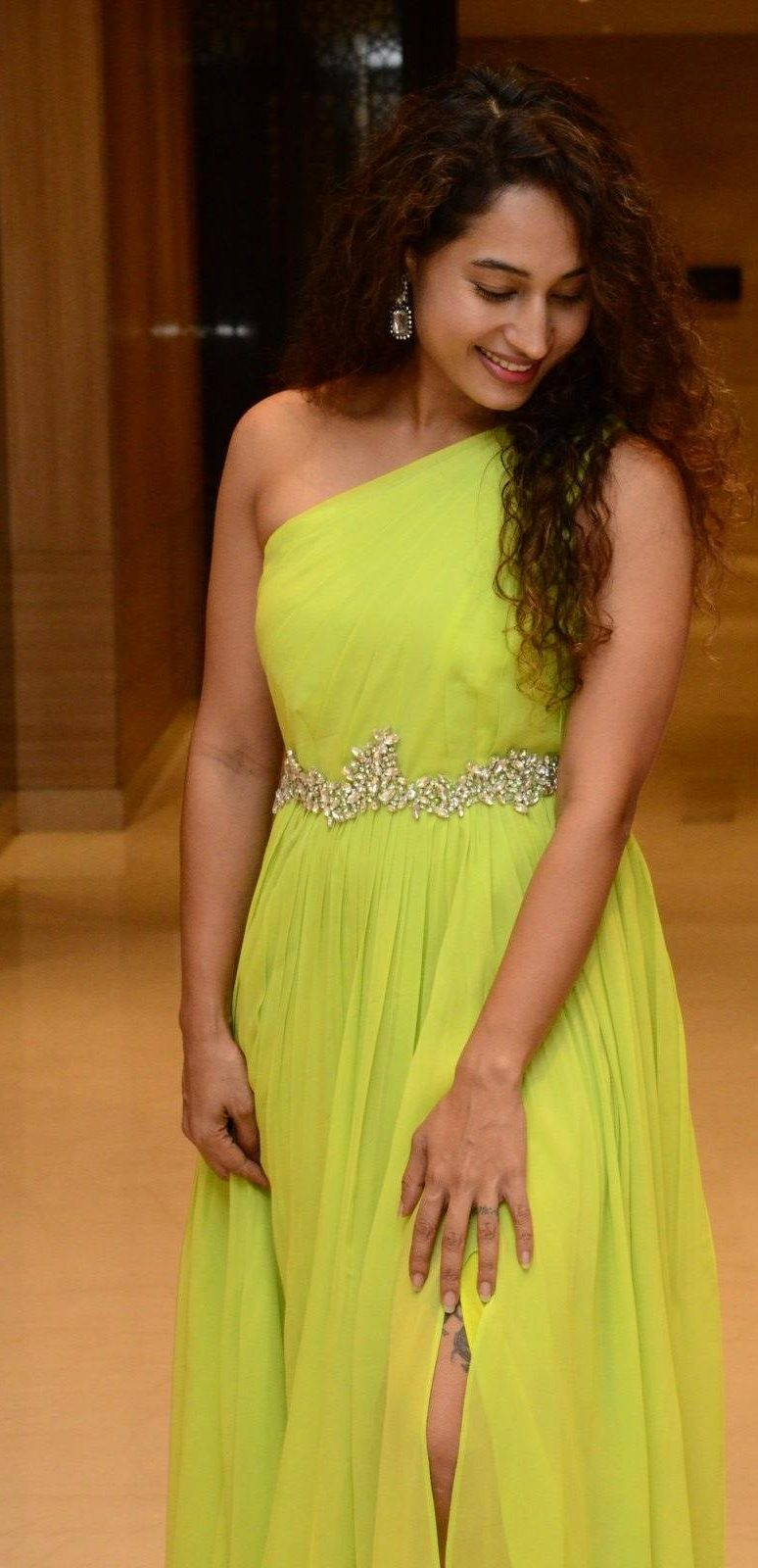 Pooja Ramachandran in a neon dress for powerplay pre-release event-2