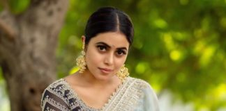 Poorna in a pastel preesha saree-3