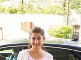 Pranitha Subash in pink kurta set in Hyderabad-3