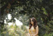 Radhika Medan in golden yellow lehenga by Ridhi Mehra-2
